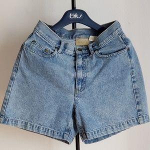 Liz Claiborne High Waisted Jean Shorts